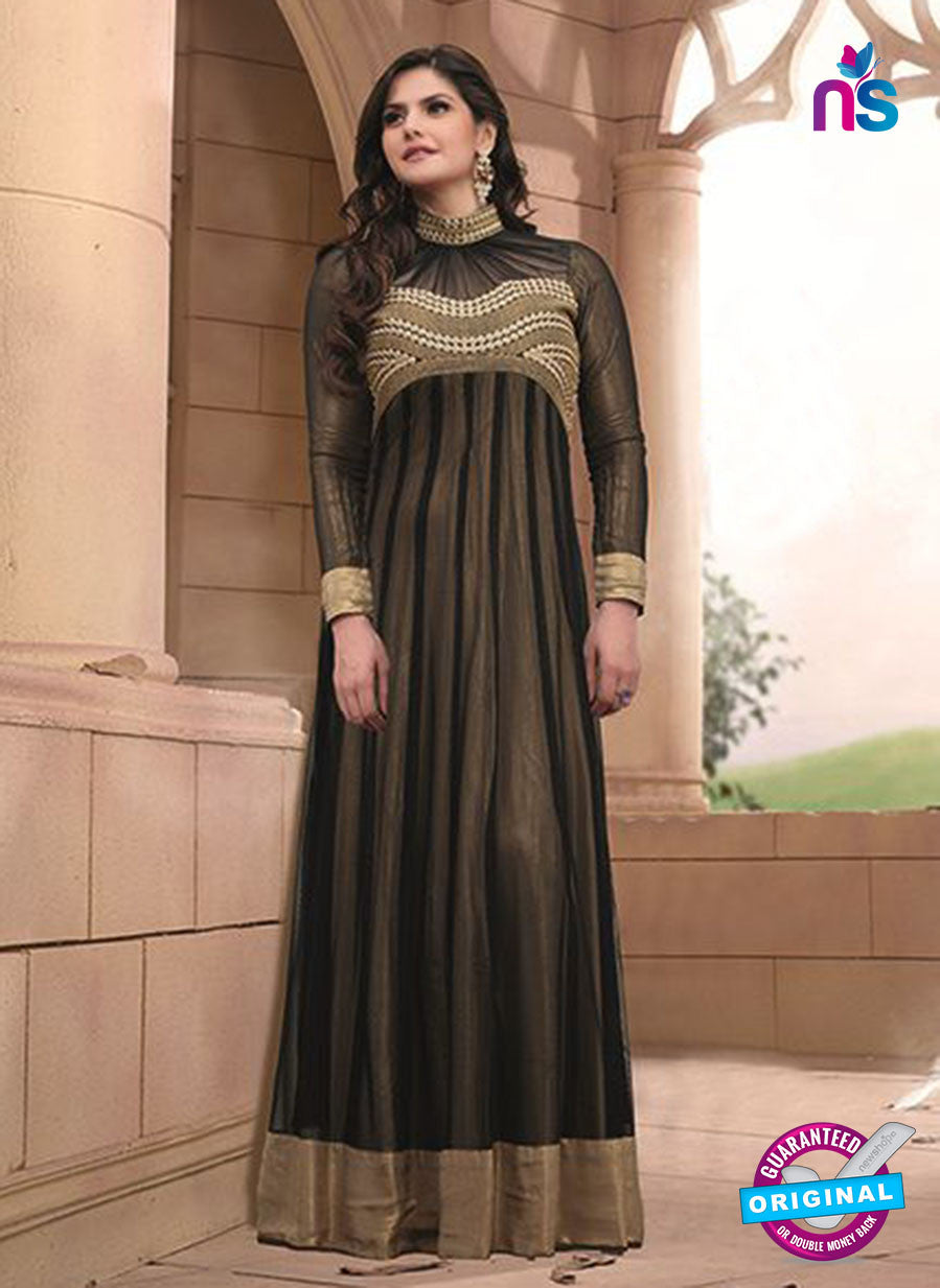 SP 1080 Black Embroidery Valvet Georgette Suit