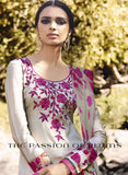 Omtex 1095 A Pink & Grey Color Satin Cotton Designer Suit