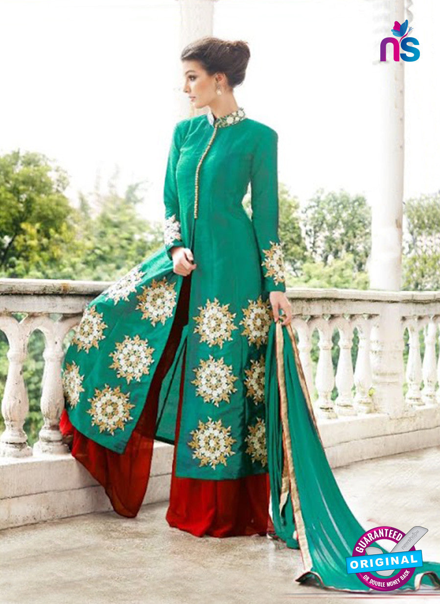 Gayatri 1097 Green Raw Silk Party Wear Suit