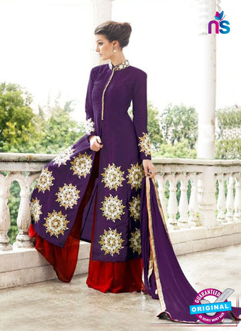 Gayatri 1097 Purple Raw Silk Party Wear Suit