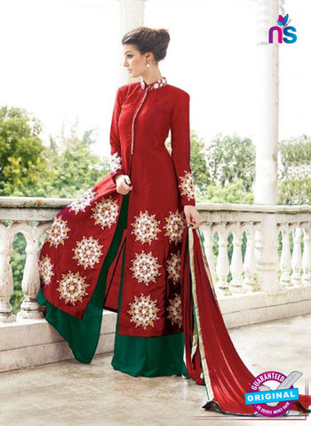 Gayatri 1097 Maroon Raw Silk Party Wear Suit