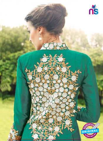Gayatri 1097 Green Raw Silk Party Wear Suit Online