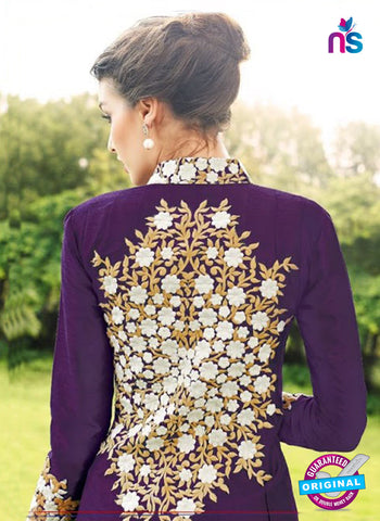 Gayatri 1097 Purple Raw Silk Party Wear Suit Online