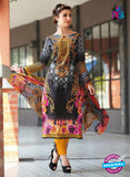 NS 12473 Black and Yellow Printed Cambric Suit