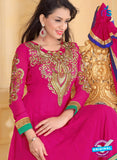 NS10934 Magenta and Royal Blue Georgette Anarkali Suit