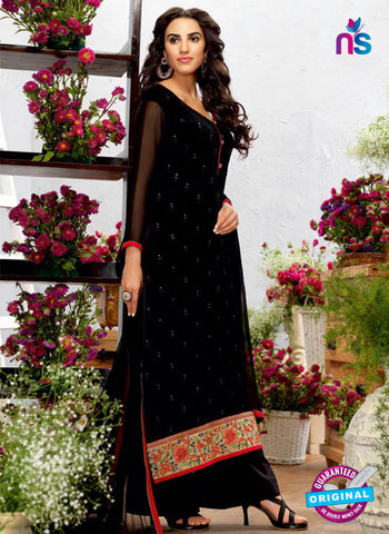 AZ 5266 Black Georgette Designer Suit