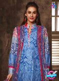 NS 12386 Blue and Red Printed Pure Lawn Suit Online