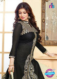 NS10128 Black and Yellow Cotton Straight Suit Online