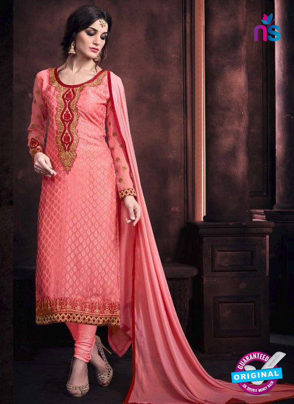 Buy Vaidik 11002 Pink Brasso Party Wear Suit