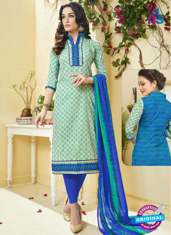 Ridham11002 Sea Green Cotton Suit
