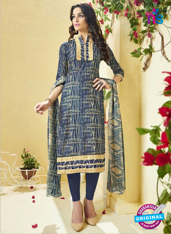 Ridham 11003 Blue Cotton Suit