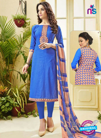 Ridham 11004 Blue Cotton Suit