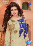 NS10194 Beige and Blue Party Wear Pure Georgette Designer Gawn