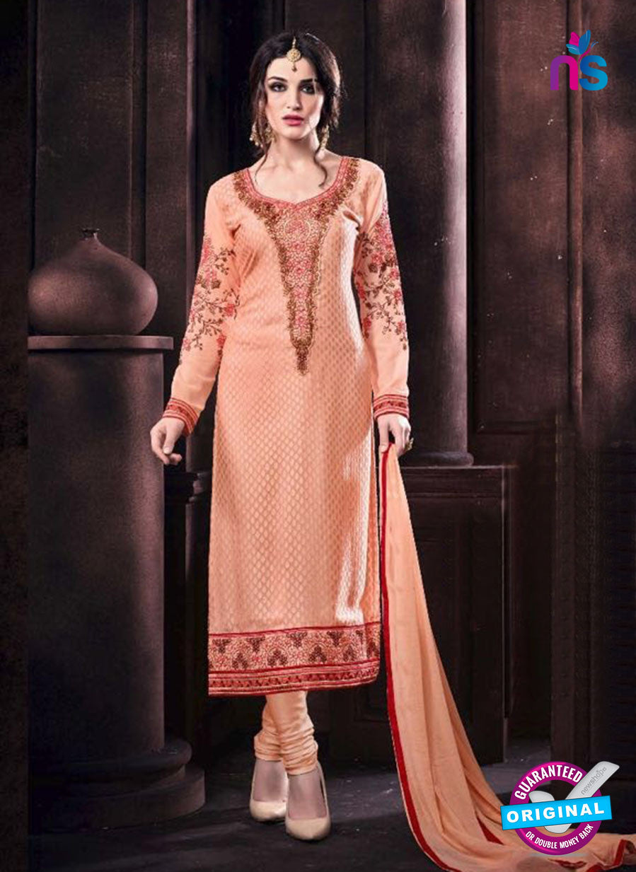 Vaidik 11005 Peach Brasso Party Wear Suit