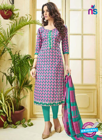 Ridham 11005 Pink Cotton Suit