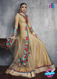 SC 13452 Beige Embroidered Net Party Wear Fancy Designer Lehenga