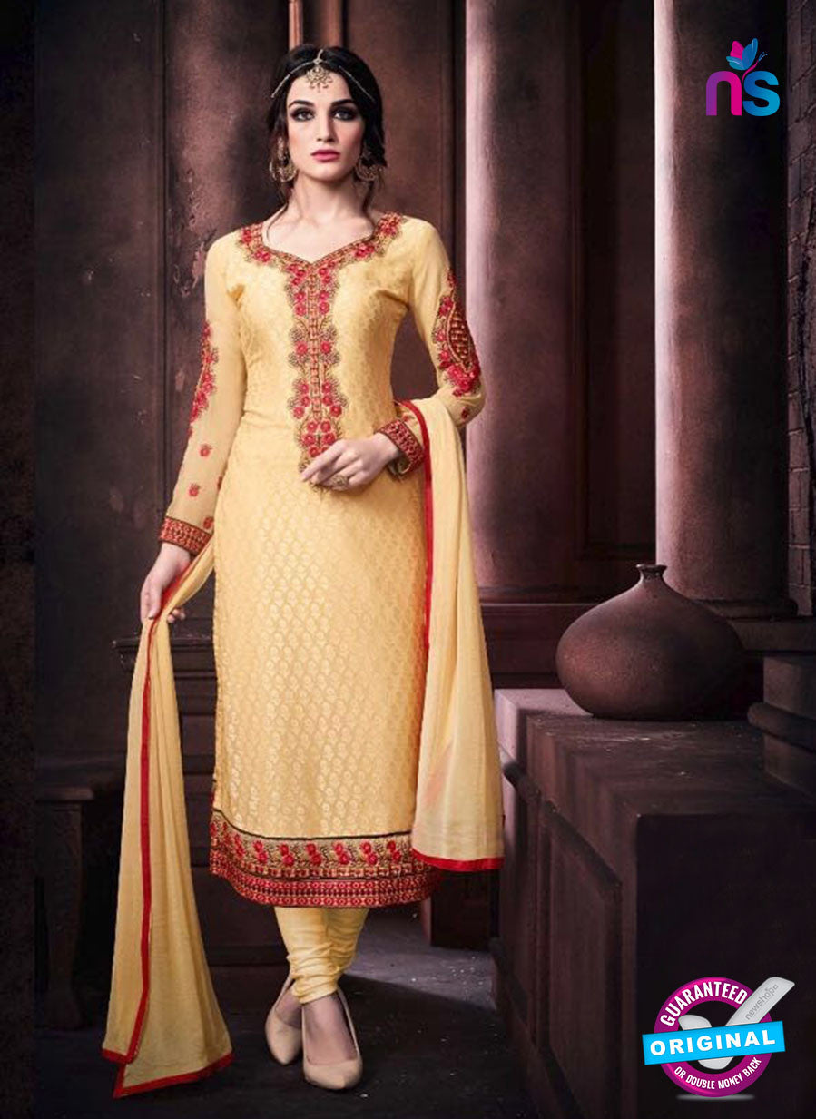 Vaidik 11006 Yellow Brasso Party Wear Suit