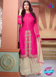 NS10196 Magenta and Beige Party Wear Pure Georgette Designer Suit