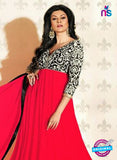 NS12049 E Red and Black Anarkali Suit