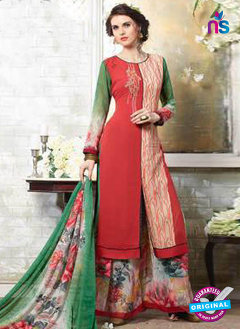 Kessi 11007 Red Designer Plazo Suit
