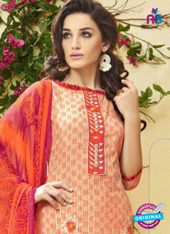 Ridham 11007 Peach Cotton Suit