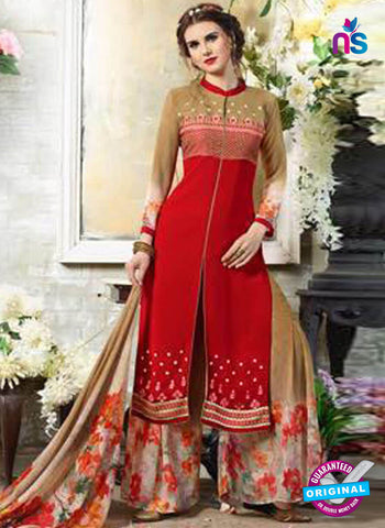Kessi 11012 Red Designer Plazo Suit