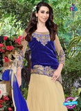 NS10981 Beige and Dark Blue Designer Anarkali Suit Online