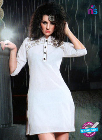 SC 13009 Beige Lawn Cotton Party Wear Kurti Online