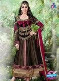 NS10982 Brown and Pink Designer Anarkali Suit