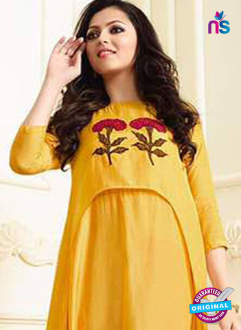 LT 1102 Yellow Indo Western Tunic