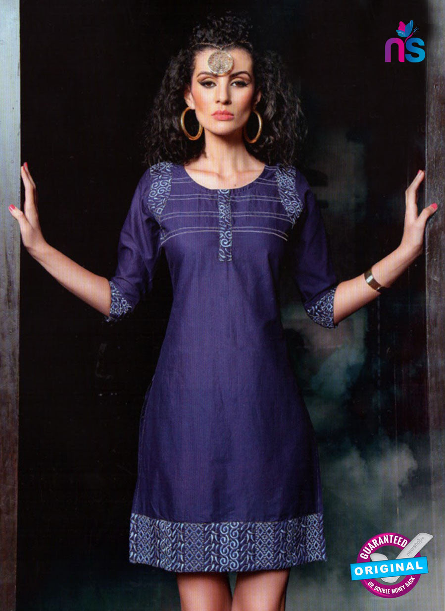 SC 12994 Purple and White Lawn Cotton Party Wear Kurti