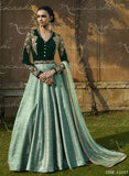 Nakkashi 11037 Beige & Green Color Velvet Designer Suit