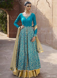 Nakkashi 11040 Blue Color Chiffon Designer Suit