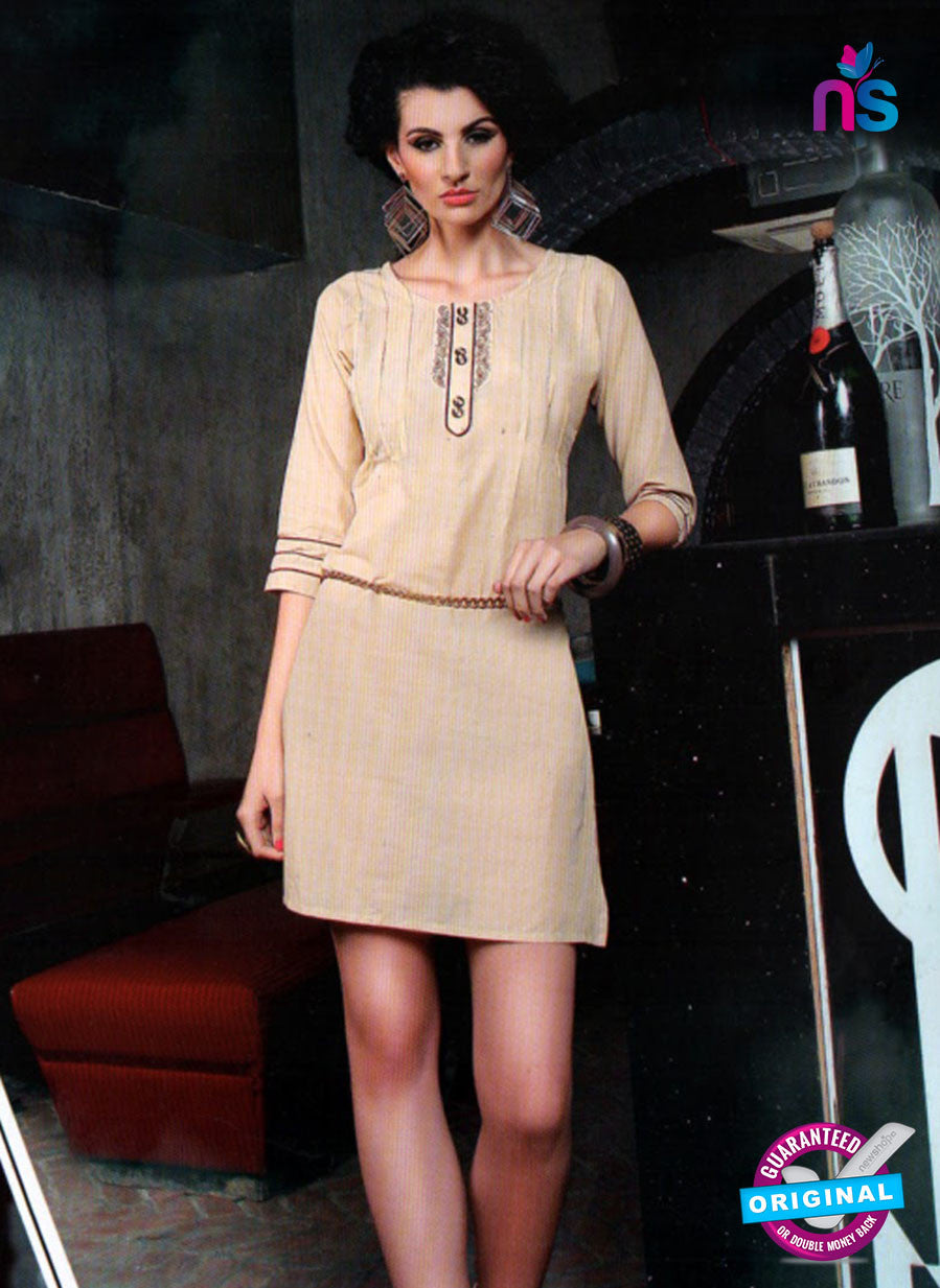 SC 12993 Beige Lawn Cotton Party Wear Kurti