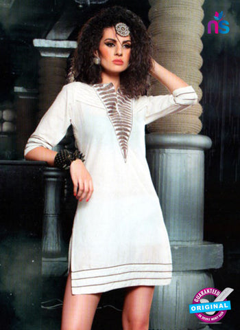 SC 13012 White Lawn Cotton Party Wear Kurti Online