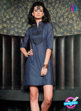 SC 13016 Grey and Black Lawn Cotton Party Wear Kurti