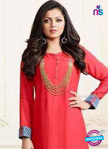LT 1108 Red Indo Western Tunic