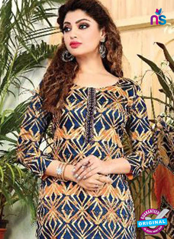 SC 42079 Blue Formal Cotton Suit