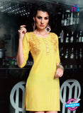 SC 13014 Yellow Lawn Cotton Party Wear Kurti