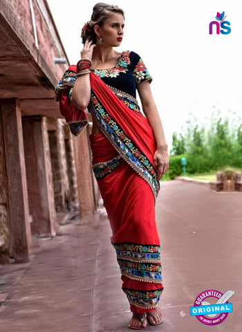 Reflection 1111 Red Party Wear Saree