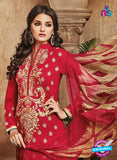 Omtex 1111 Red Color Georgette Designer Suit