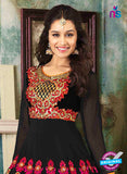 NS12052 Black and Red Anarkali Suit