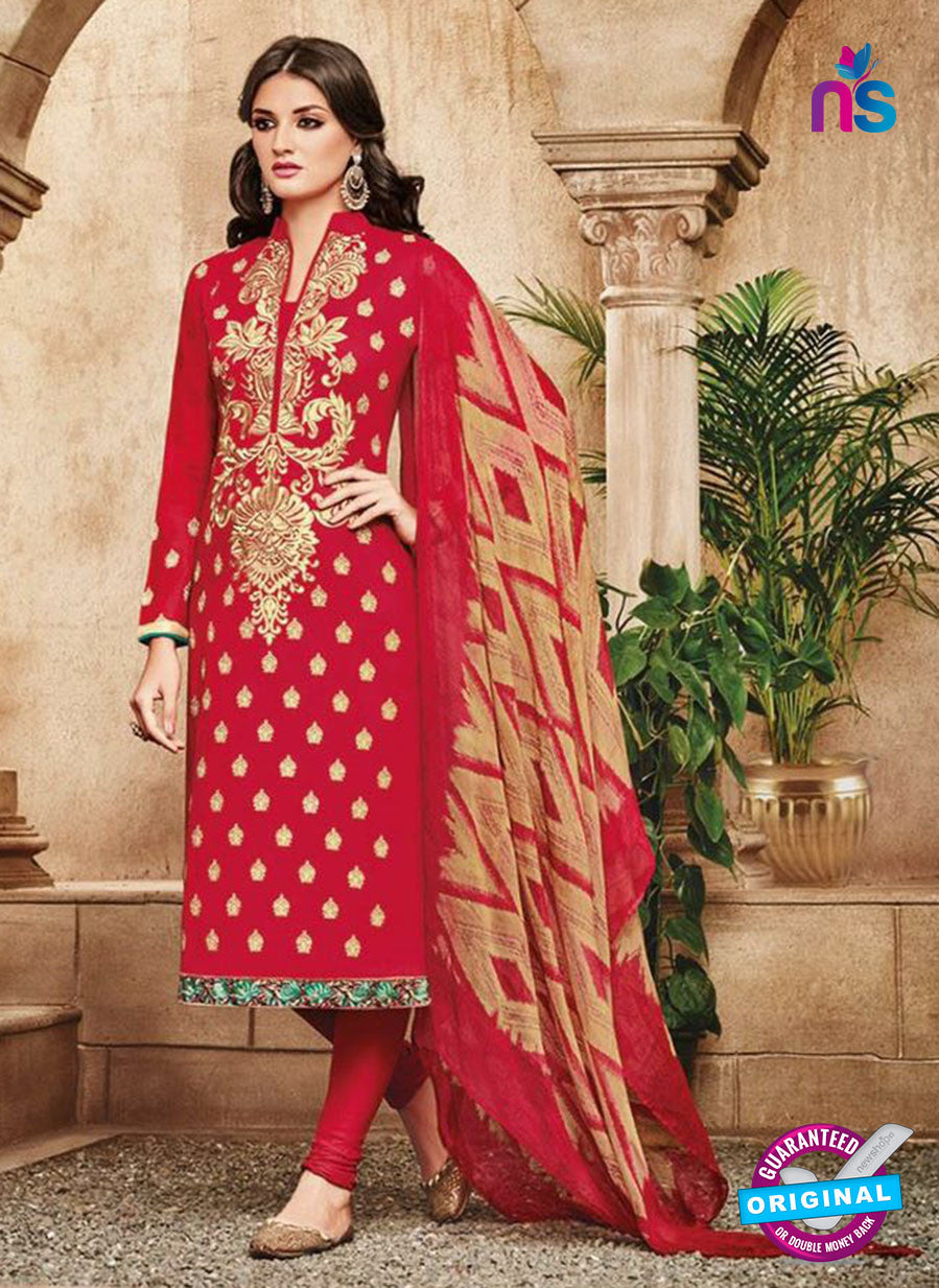Omtex 1111 Red Color Cotton Designer Suit
