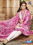 Omtex 1112 White & Pink Color Georgette Designer Suit