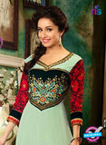 NS12053 Green and Black Anarkali Suit online