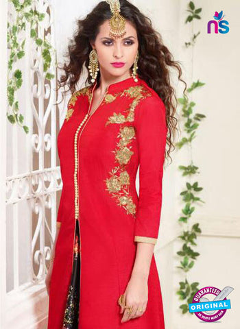 Zeeya 1112 Red Indo Western Suit