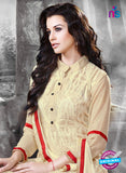 NS11131 Beige Faux Georgette Straight Suit Online