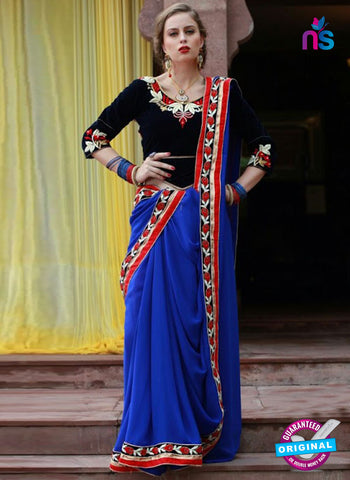 Reflection 1113  Blue Party Wear Saree