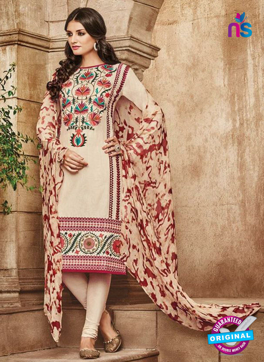 Omtex 1114 Beige Color Cotton Designer Suit