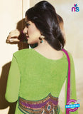 NS10588 Green and Pink Anarkali Suit